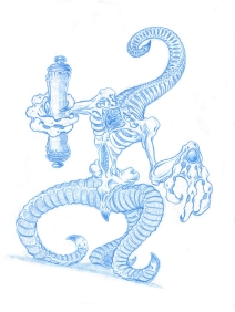Nyarlathotep-blue-sketch