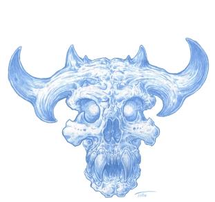 Young-Wendigo-Skull-blue